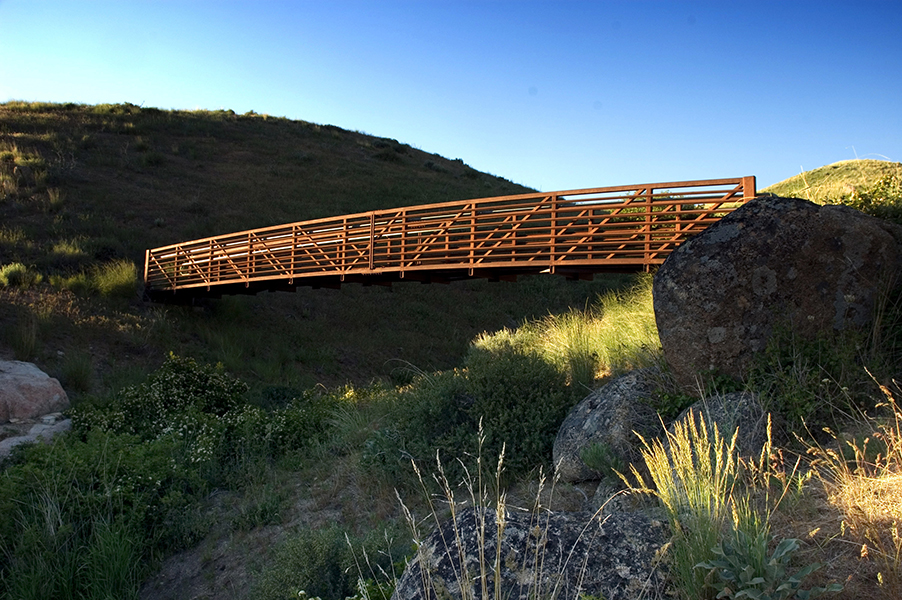 Bridge in Hulls Gulch in the Boise Foothills, Idaho